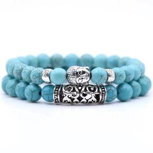 Jewelry - 🔥1 left🔥Turquoise Lava Stone Prayer Beads Buddha